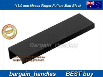 116mm Vieste D Handle Matt Black/Black Finish