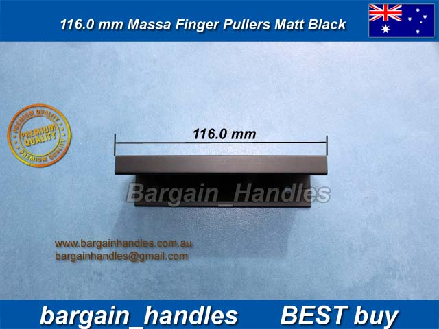 [116mm Mass Finger Pullers Matt Black/Black Finish]