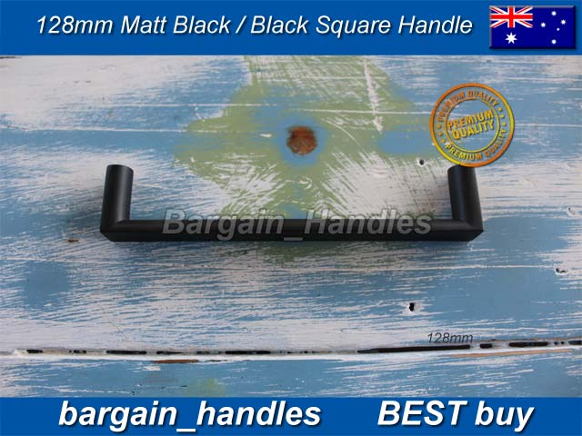 [128mm Square Handle Matt Black]