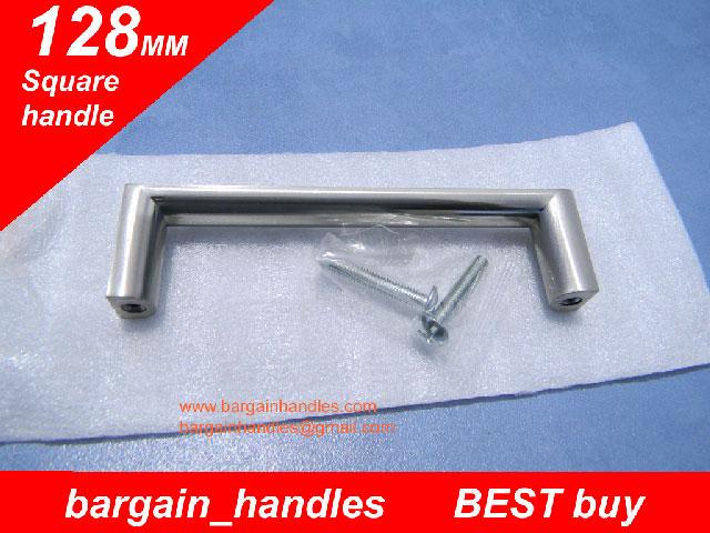 [128mm Square handles Brushed Satin Nickel]