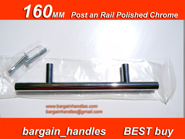 160mm Post & Rail ( Polished Chrome )