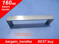 160mm Square Handle / D-Square Brushed Satin Nickel Finish