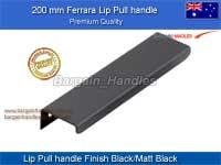 200.0 mm Ferrara Lip pulls Matt Black/Black Finish
