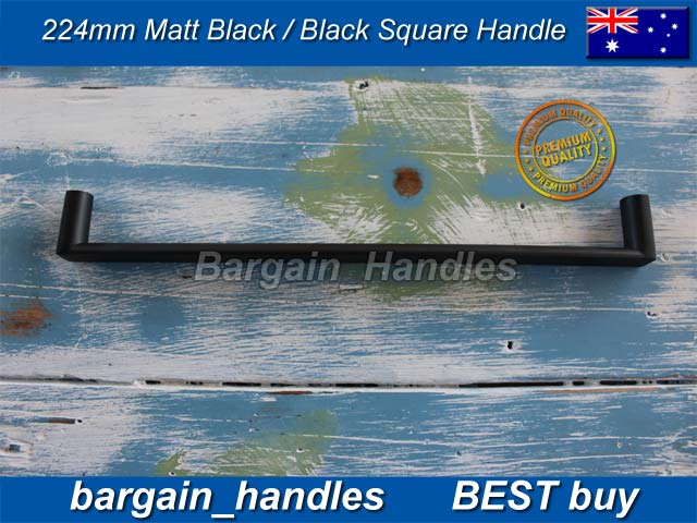 [224mm Square Handle Matt Black]