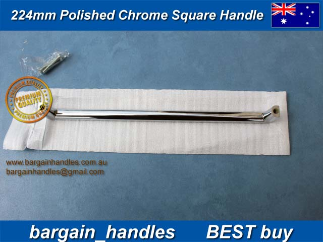 224mm Polished Chrome Square Handles