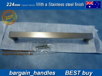 224mm Square Handle / D-Square With A stainless Steel Finish