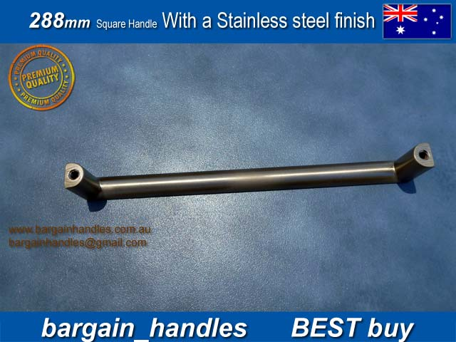 [288mm with a Brushed Stainless Steel finish]