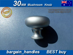 30mm Mushroom Knob Satin Chrome Knob