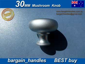 30mm Mushroom Knob Satin Chrome