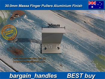 30mm Massa Finger Flush Pullers ALUMINIUM Finish