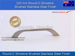 [320.0 mm Round D Slimeline Bushed Stainless Steel Finish]
