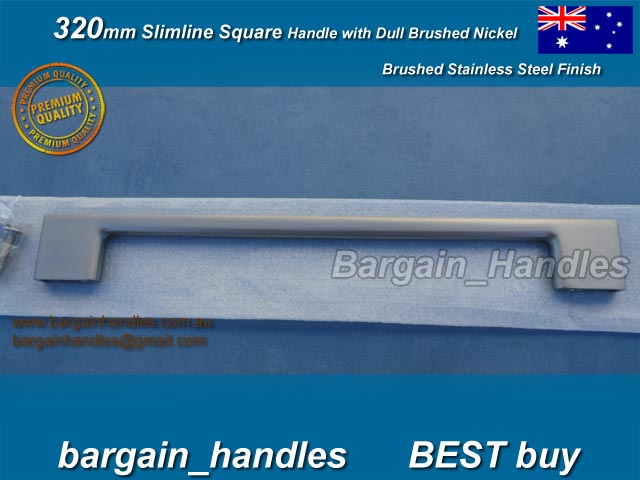 [320mm Slimline Square Handle Brushed Stainless Steel]
