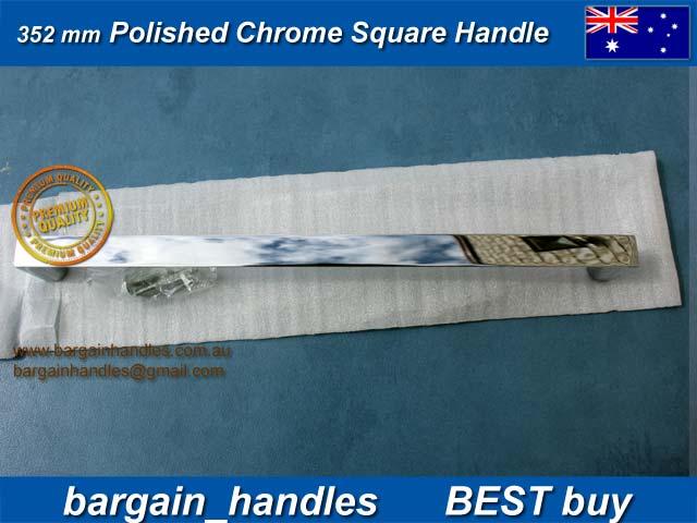 352mm Polished Chrome Square Handles