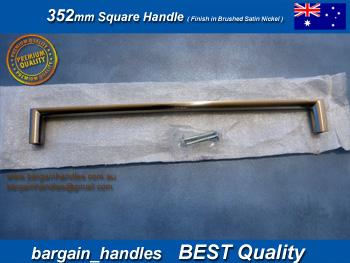 352mm Square Handles Finish in Brushed Satin Nickel Cabinet Kitchen Door Drawer Knob Pull