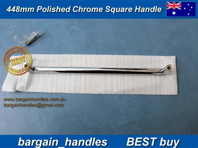 448mm Polished Chrome Square Handles
