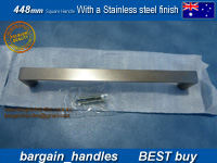448mm Square Handle / D-Square with a Stainless Steel finish