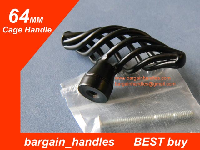 Black 64mm Cage Handle/Knob