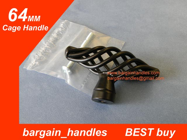 64mm black Cage Knob/Handle