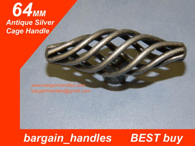 64mm black Cage Knob/Handle