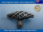 Antique Silver 85mm Cage Handle