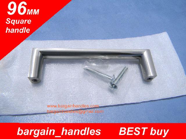 96mm Brushed Satin Nickel Square Handles