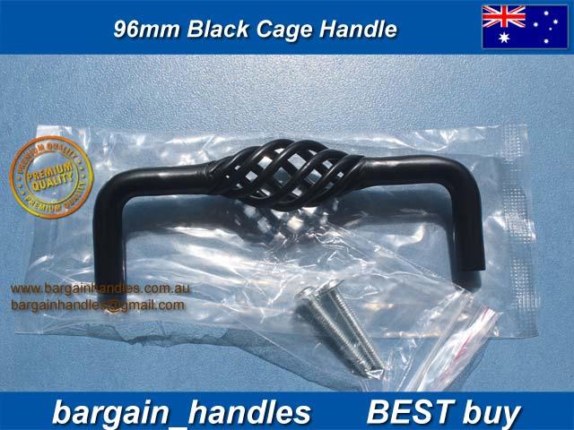 [96mm twist iron Black Cage]