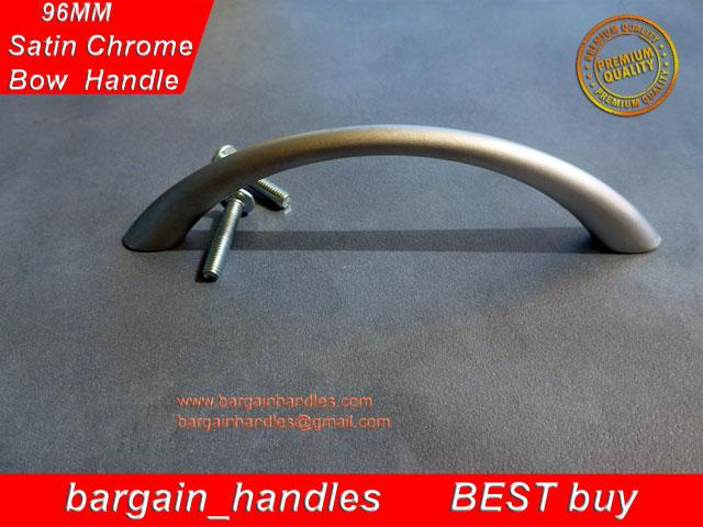 96mm Bow Handles ( Satin Chrome)