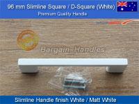 SlimeLine Square Handle/D-Square White finish