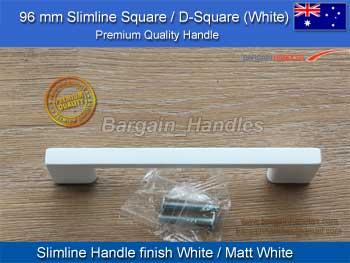 White Slimeline Square Handle / D Square