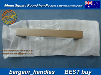 Square Handle Brushed Stainless Steel Finish