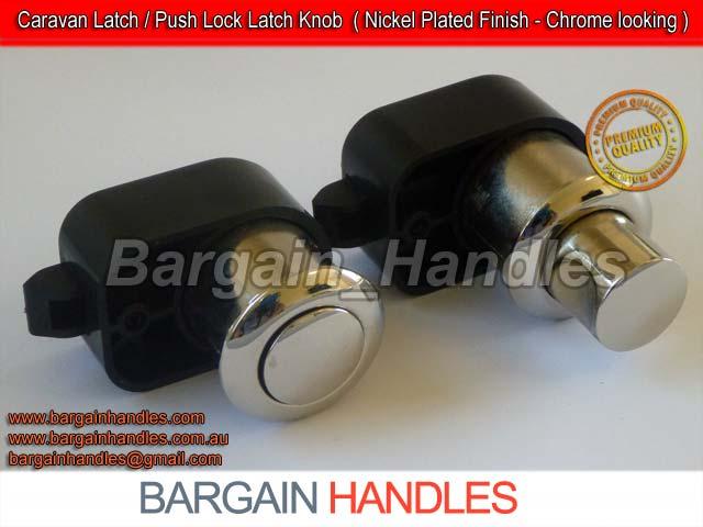 Push Lock Door Latch (Nickel Plated)