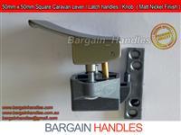Caravan Latch / Lock and lever Latch - Matte Nickel