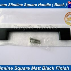 128mm Slimline Handle D-Square Matte Black