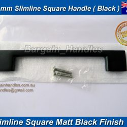 160mm Slimline Handle D-Square Matte Black