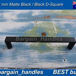 448mm Matte Black Kitchen Door Handle D-Square Pull