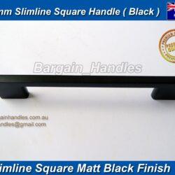 Black Kitchen Cabinet door handle Slimline,D-Square
