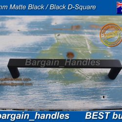 96mm D-Square kitchen Handle Pulls Matte Black