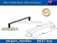 Square Handle / D-Square Matt Black / Black Finish