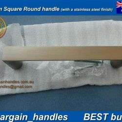 96mm kitchen door handle Brushed Stainless Steel finish D-Square Series