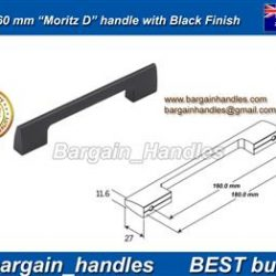 160mm Moritz D Handle Matt Black