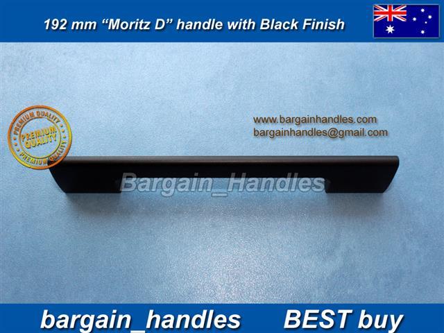 192mm Moritz D Handle Matt Black