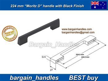 224mm Moritz D Handle Matt Black