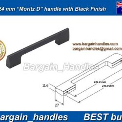 224mm Moritz D Handle Matt Black