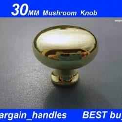 30mm Mushroom Knob (Gold/Polished Brass)