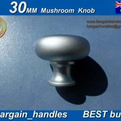 30mm Mushroom Knob Finish in Satin Chrome