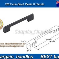 320mm Moritz D Handle Matt Black