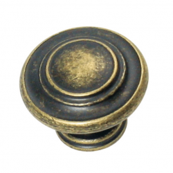 Grecian Fluted Knob - Antique Brass