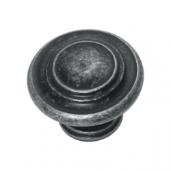 Grecian Fluted Knob - Antique Black