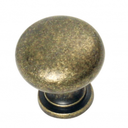 Grecian Plain Knob - Antique Brass