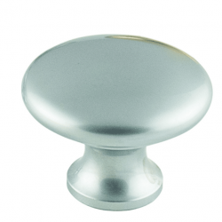 Plain Solid Knob - Satin Chrome
